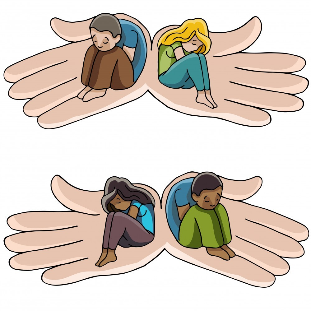 Depression Support Hands