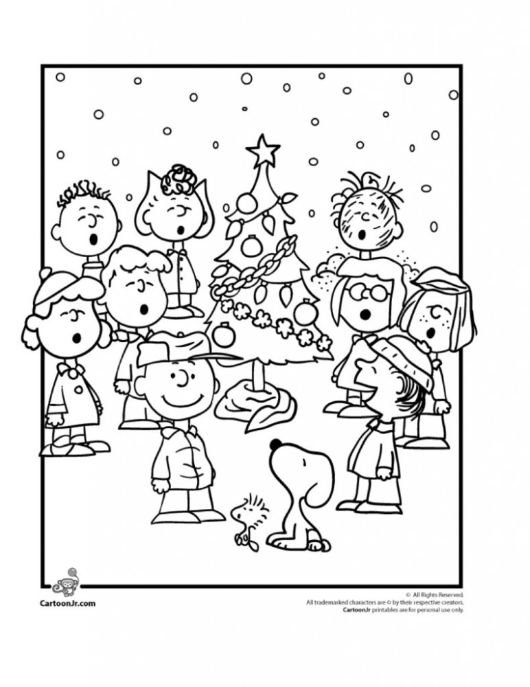 4_Charlie-Brown-Christmas-Coloring-Pages-with-the-Peanuts-Gang-Cartoon-Jr.-791x1024