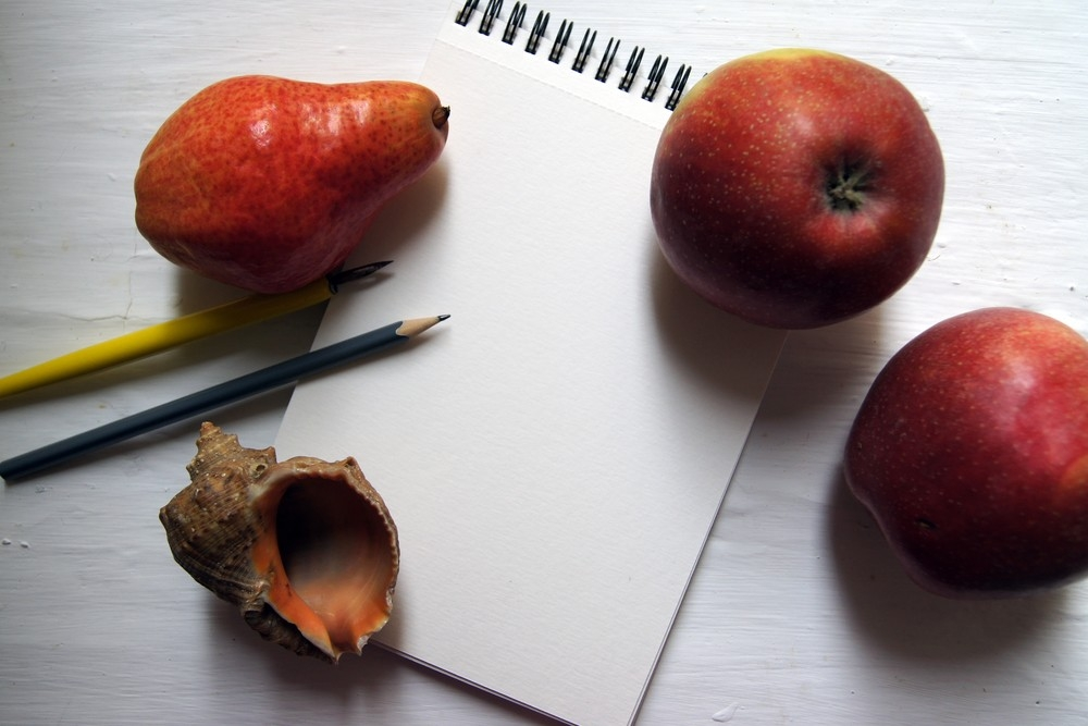 Mock-up with a notebook