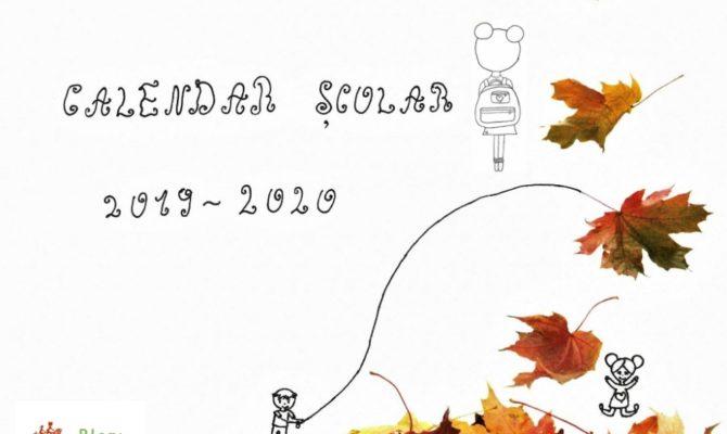 Calendar Școlar 2019/2020. Varianta ce se poate tipări