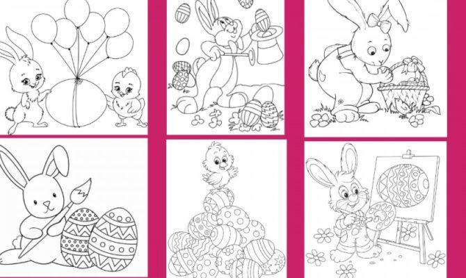 13 Fișe de colorat pentru Paște