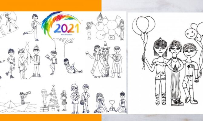 Calendar 2021, desenat de Ema. Varianta de tipar