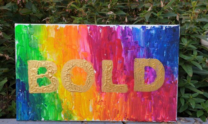 DIY – Tablou colorat, cu numele inscripționat