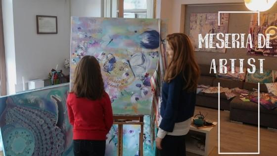 Vitrina cu Meserii prezintă MESERIA de ARTIST