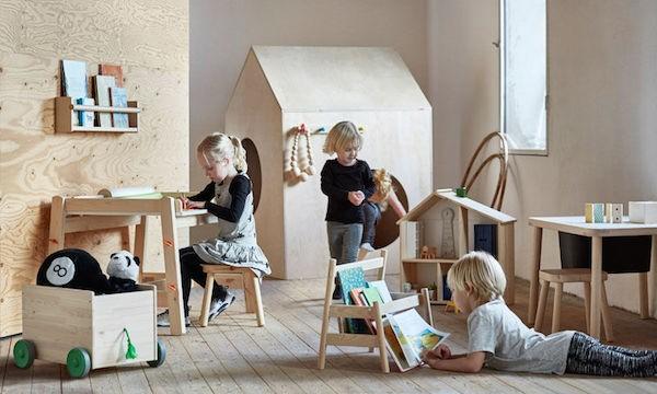 Mobila pentru copii, din lemn de pin