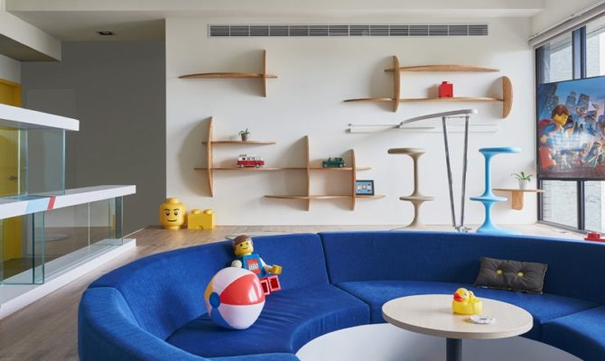 O locuinta decorata integral cu tema Lego