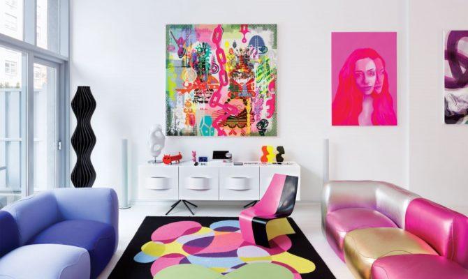 Explozie de culoare în casa designerului Karim Rashid