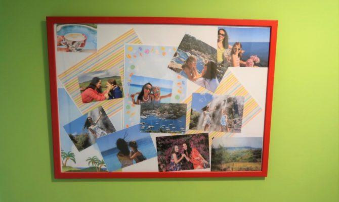 Tablou cu poze și amintiri colecționate în vacanță