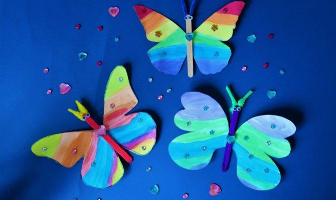 DIY: Decorați casa cu fluturi multicolori