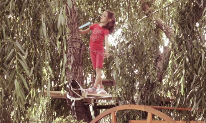 Fericirea copilului se traduce simplu. O scena in copac