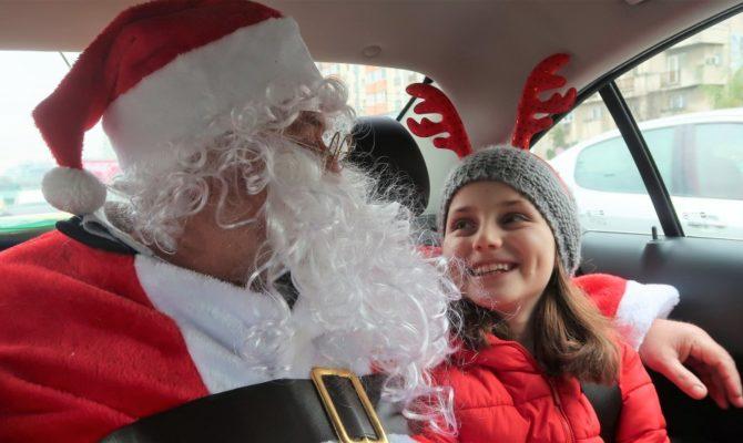În taxi cu Moș Crăciun