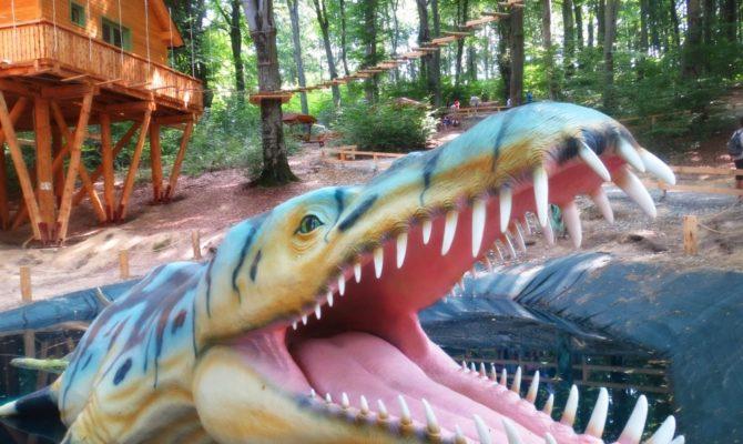 In vizita la DinoParc, in Rasnov