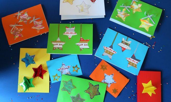 DIY – 5 modele de felicitări de Crăciun, cu steluțe